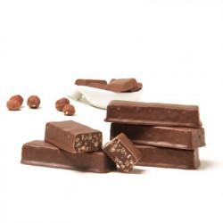 Barre crunch chocolat - noisettes